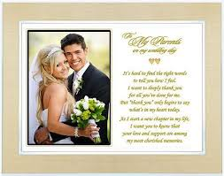 wedding gift poem to the bride and groom ~ imbusy for Wedding Gifts For Parents Frames personalized wedding gift for parents of bride or groom poem frame wedding gift for parents picture frame