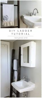 diy bathroom decor ideas for teens ladder tutorial best creative cool bath decorations