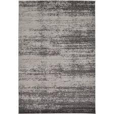 unique loom del mar dark gray 6 x 9 rug