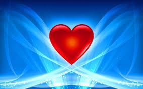 Pretty Heart Abstract Wallpaper Full Hd Beautiful Blue