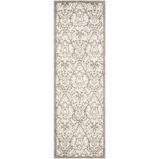 safavieh amherst dark gray beige 2 ft x 13 ft indoor outdoor