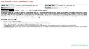 Financial Reporting Manager Sample Resume Nfcnbarroom Com