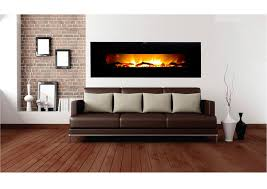 frigidaire warm house vwwf 10306 black valencia 50 wide screen wall hung fireplace remote fan forced heater 1500w 750w overheat protection