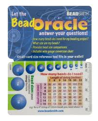 1 Oracle Wallet Beading Reference Card Bead Charts Sizes