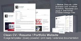 Clean Cv Themeforest Resume Portfolio Website 10 Bonuses