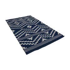 one kings lane blue and white flat weave rug one kings lane