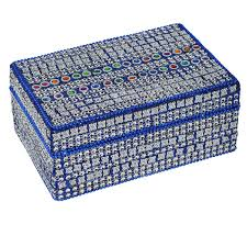 Decorative Jewelry Gift Boxes Best Gift Idea Blue Decorative Jewelry Box Amazoncouk Kitchen 30