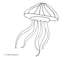 Jellyfish Coloring Pages Easy Drawing Free Printable Coloring Pages