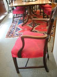 hepplewhite shield dining chairs set: set of seven george iii hepplewhite shield back inlaid mahogany dining chairs