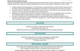 resume writing tips business analyst