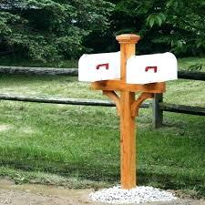 mailbox post ideas. Mailbox Post Design Ideas Dual Designs Home Furniture Wooden