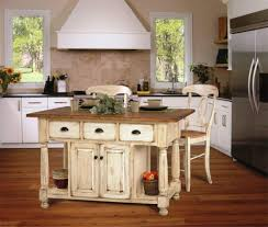 Rustic Kitchen Flooring White Rustic Kitchen Island Design With Wooden Floor For Charming