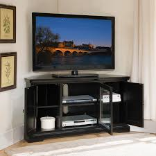 Tv Stands For Lcd Tvs Amazoncom Leick Black Hardwood Corner Tv Stand 56 Inch Kitchen