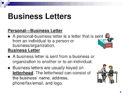 Business Letter Format Personal Statement New Personal Business ...