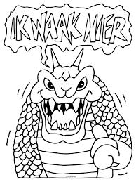 Monster Draak Knutselpaginanl Knutselen Knutselen En Nog
