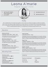 Teacher Resume Template. Awesome Resume Template Teacher Good ...