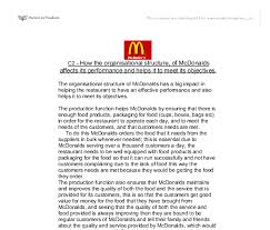 how the organisational structure of mcdonalds affects its  document image preview
