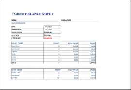 Printable Cash Drawer Balance Sheet End Of Day Cash Register Report Template Charlotte Clergy Coalition