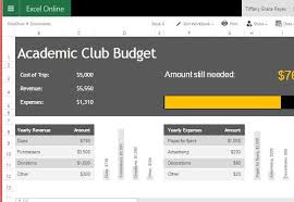 Budget Online Academic Club Budget Template For Excel