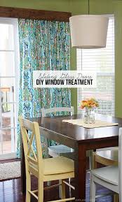 diy window treatment for sliding glass