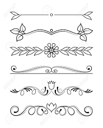 Divider Graphic Design Vector Set Of Calligraphic And Graphic Design Elements Text