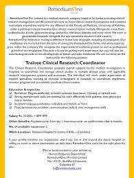trainee clinical research coordinator job vacancy in sri lanka a strong interpersonal skills are essential to work effectively patients their physicians and or families