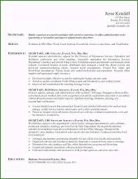 Secretary Resume Objective Top Rated Unit Secretary Resume