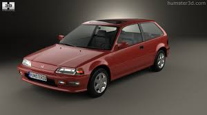 360 view of Honda Civic hatchback 1987 3D model - Hum3D store
