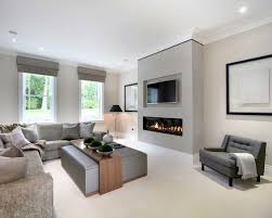 modern living room with fireplace. Attractive Modern Fireplace Living Room Design With Inspiration E