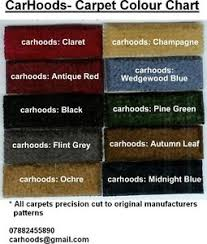 Morris Minor Colours Chart Details About Morris Minor 1000 Split Screen Mm Traveller Carpet Set Choice Of Colours New