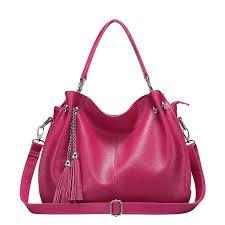 las handbags and purses tote bag for women genuine leather shoulder bags tassel