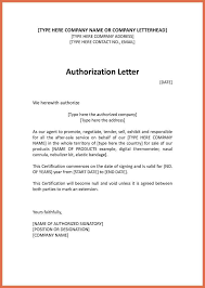Authorization Letter Template Bio Example