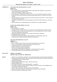 Sample Business Analyst Resume Healthcare Business Analyst Resume Samples Velvet Jobs Inside Sample 19