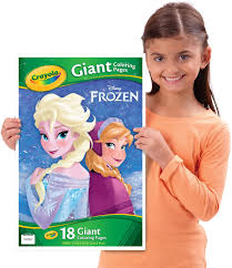 These oversized pages feature large, detailed images that can be colored with crayons, colored. Amazon Com Crayola Frozen Giant Coloring Pages Toys Games