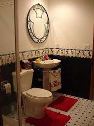 decoration mickey mouse bathroom