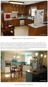kitchen's before and after transformation. - with little renovation  whatsoever -- also transforming room by painting wood paneling