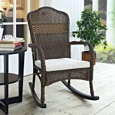 cushion wicker patio furniture rocking chair mocha with beige cushion chairs cush cushions er barrel