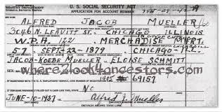 Where2look4ancestors Learned Social Security Record Alfred Things Mueller's 3 From I