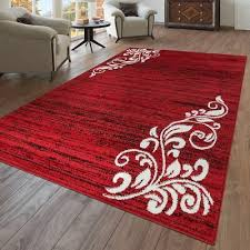 modern rug small extra large carpets red oriental low pile mats kitchen mats new
