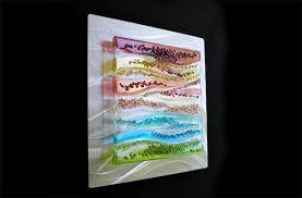 fused glass metal wall art