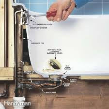 How to remove a bathtub Caulk How To Convert Bathtub Drain Lever To Liftandturn Drain The Family Handyman How To Convert Bathtub Drain Lever To Lift And Turn Drain The