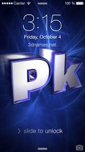 pk 3d name wallpaper