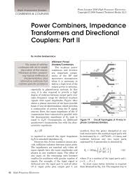 Wilkinson Power Combiner Design Power Combiners Impedance Transformers And Directional Couplers