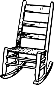 rocking chair clipart. Rocking Chair 383. # Clipart L