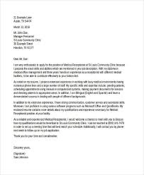 Medical Cover Letter Templates     Free Sample  Example  Format   Copycat Violence