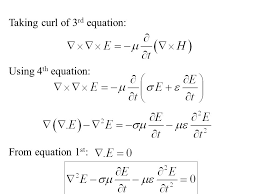 taking curl of 3rd equation