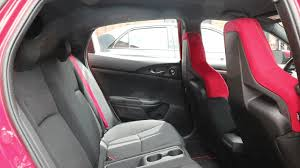 our 6 1 tester demonstrates how easy it is to enter and exit the back seat of the civic type r