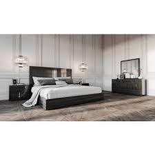 platform bedroom set. modrest ari italian modern grey bedroom set platform