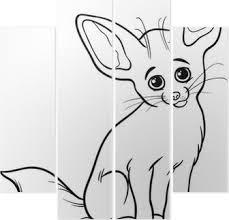 Sticker Fennec Coloriage Animaux De Renard Pixers Nous Vivons