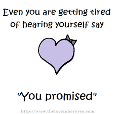 You Promised – Sad Heart Meme | The Love In Her Eyes | We Heart It ... via Relatably.com